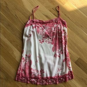 Forever 21 Pink Lace Floral Tank Top